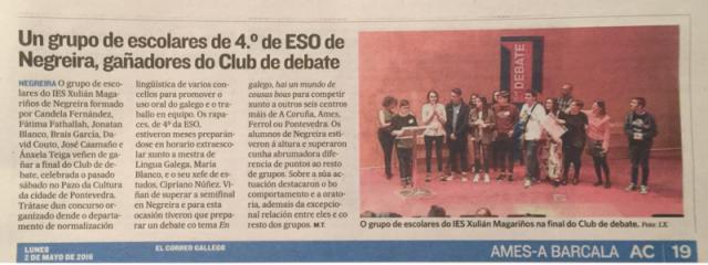 CLUB DE dEBATE 2016