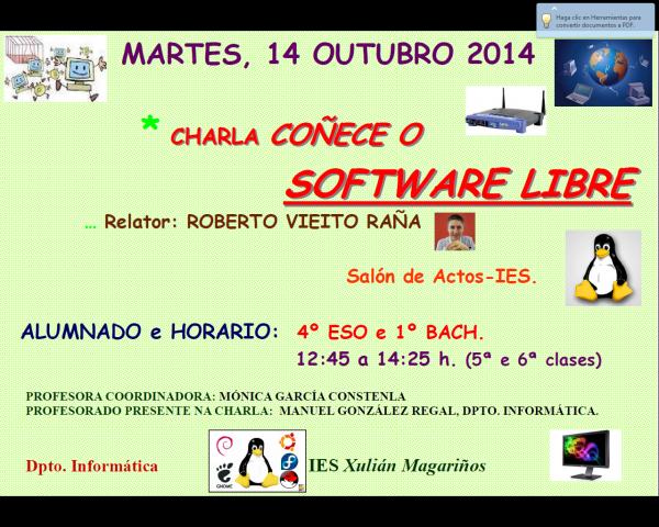charla sobre software libre
