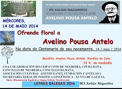Ofrenda floral Avelino Pousa Antelo