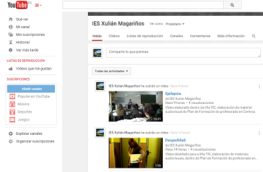 Canal youtube IES