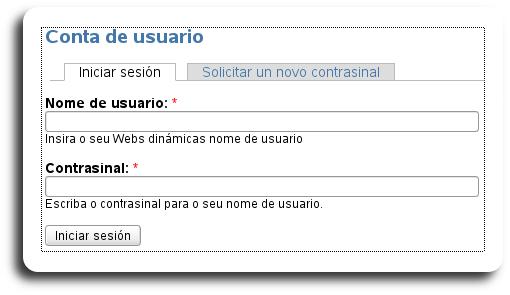 Conta de usuario