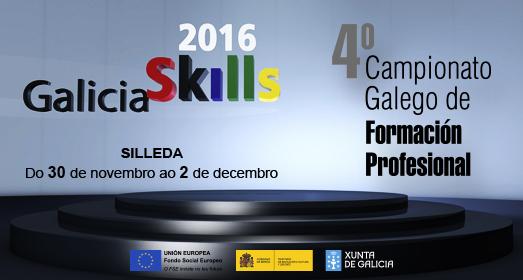 Galiciaskills 2016 do 30 de novembro ao 2 de decembro