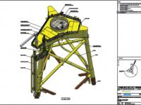 Maquetación e modelización de estrutura offshore eólica mariña