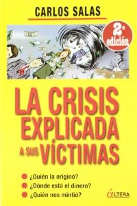 Portada de La crisis explicada a sus víctimas