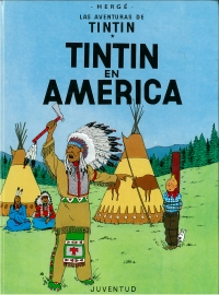 Portada de Tintín en América