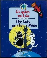 Portada de Os gatos na Lúa. The Cats on the Moon