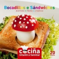 Portada de Cociña infantil e familiar: bocadillos e sándwiches