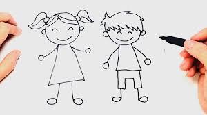 debuxo de nena e neno