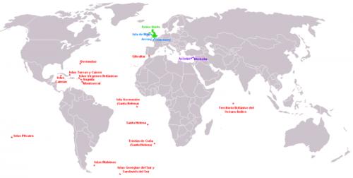 Map Of Uk Overseas Territories.Uk Ceip San Isidro
