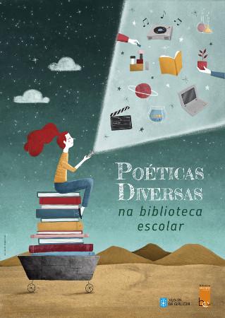 Cartel Asesoría Bibliotecas sobre Poéticas Diversas
