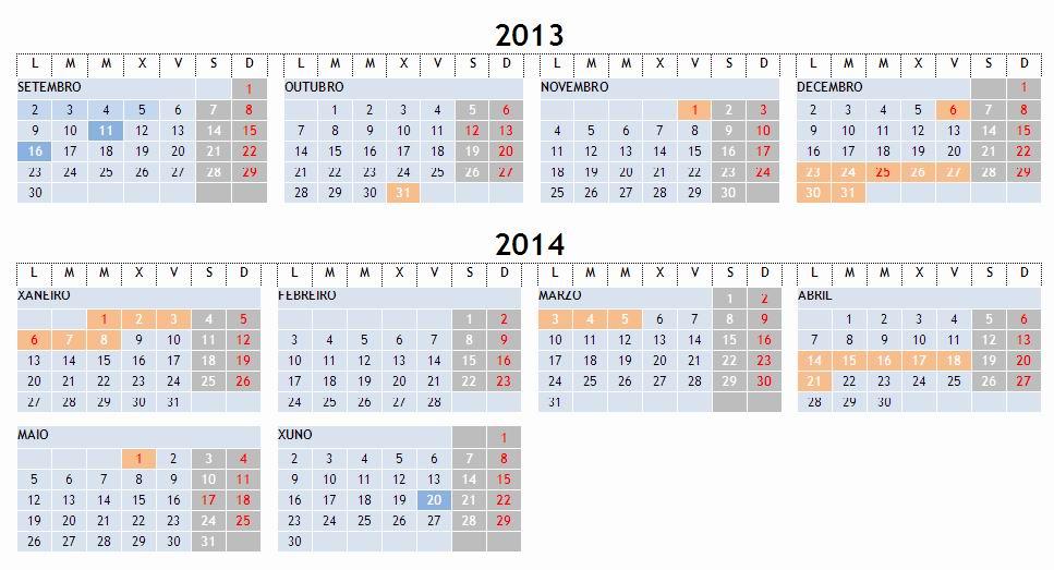 Calendario Escolar Xunta.Calendario Escolar 2013 2014 Conselleria De Educacion